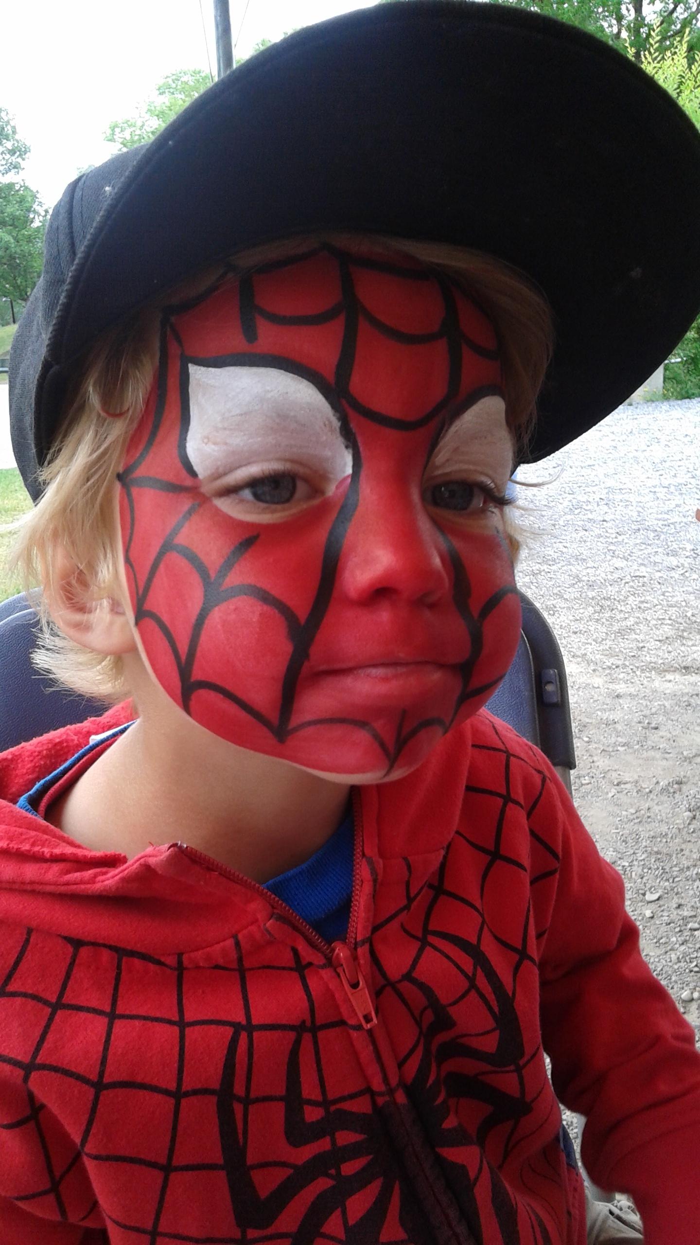 Spiderman-Facepainting