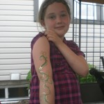 face painted arm