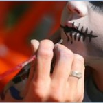 face painting stitched lips